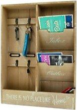 Wand Organizer - Wandregal Schlüsselbrett mit