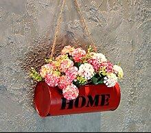 Wand ornamente eisen haus balkon restaurant milch tea shop wand pflanzen dekoration-Q