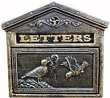 Wand-Pfosten-Briefkasten im Freien, europäischer