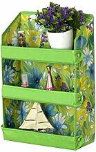 Wand Schlafzimmer Badezimmer-Tür-Aufhänger Storage Rack Shelf Green Flower