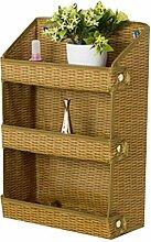 Wand Schlafzimmer Badezimmer-Tür-Aufhänger Storage Rack Shelf Weave
