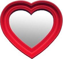 Wand Schmink Spiegel Glas Herz Form rot Mädchen