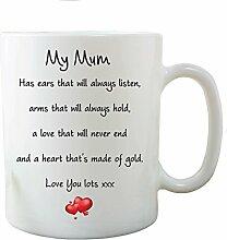 Wand Smart Designs Mum Love You Lots Heart of Gold