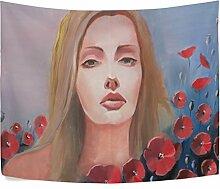 Wand Smyrna Aufhängen Schöne Mädchen Floral