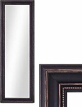 Wand-Spiegel 40x100 cm im Massivholz-Rahmen Landhaus-Stil Dunkelbraun / Spiegelfläche 30x90 cm