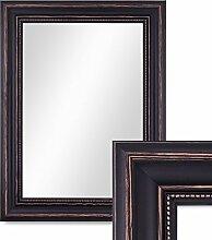 Wand-Spiegel 40x50 cm im Massivholz-Rahmen Landhaus-Stil Dunkelbraun / Spiegelfläche 30x40 cm