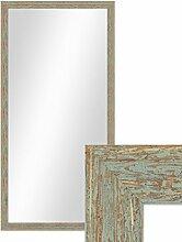 Wand-Spiegel 56x106 cm im Holzrahmen Grau-Grün Shabby-Chic Vintage / Spiegelfläche 50x100 cm