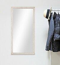 Wand-Spiegel 60x110 cm im Massivholz-Rahmen Landhaus-Stil Weiss / Spiegelfläche 50x100 cm