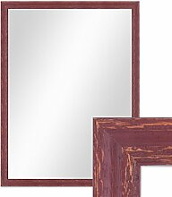 Wand-Spiegel 66x86 cm im Holzrahmen Rot-Braun Shabby-Chic Vintage / Spiegelfläche 60x80 cm