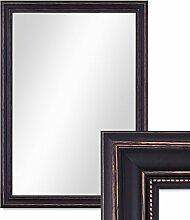 Wand-Spiegel 70x90 cm im Massivholz-Rahmen Landhaus-Stil Dunkelbraun / Spiegelfläche 60x80 cm