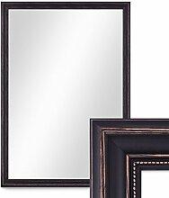 Wand-Spiegel 80x110 cm im Massivholz-Rahmen Landhaus-Stil Dunkelbraun / Spiegelfläche 70x100 cm