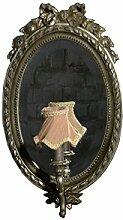 Wand Spiegel Antik Mit Schirm Leuchte Wandluechte