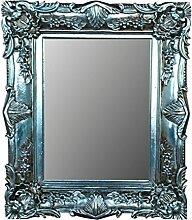 Wand-Spiegel Barock antik silber 60x50cm