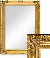 Wand-Spiegel im Barock-Rahmen Antik Gold mit Facettenschliff 64x84 cm / Spiegelfläche 50x70 cm