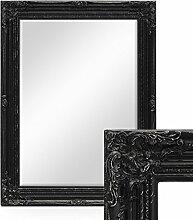 Wand-Spiegel im Barock-Rahmen Antik Schwarz mit Facettenschliff 64x84 cm / Spiegelfläche 50x70 cm