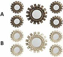 Wand-spiegel-Set 5 Design Barock in form von sonne, Haus und mehr - B