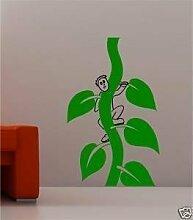 Wand Sticker Aufkleber für Kinder Bohnenstange für Kinder - Türkis