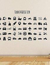Wand Sticker Wand Aufkleber, Home Dekoration Transport Kinderzimmer PVC Wandbild Wand Aufkleber