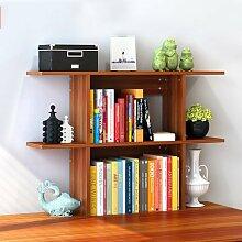 Wand Storage- Bücherregal Regale Easy Desktop Regale kreative Bücherregal Tisch Regal Kleine Bücherregal Schreibtisch Speicher - Lagerregale ( farbe : # 4 , größe : Mittel )