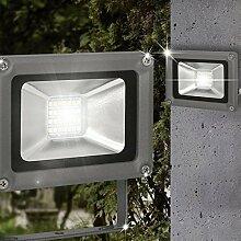 Wand Strahler AUSSEN Ø115mm/ LED/ Anthrazit/ Alu/