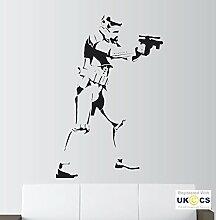 Wand Sturm Cool Helm Gun Trooper Jungen Schlafzimmer Wand Kunst Aufkleber Aufkleber V inyl Zimmer Schlafzimmer Jungen Mädchen Kinder Erwachsene Startseite Zitate Küche Badaccessoires Wandbild