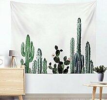 Wand Tapisserie Kaktus Aquarell Sukkulenten Pflanze Floral Wall Decor große Wandbehang Wand , 004 , 200*150cm