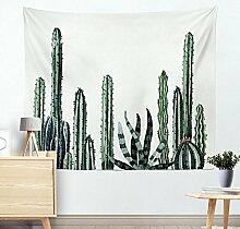 Wand Tapisserie Kaktus Aquarell Sukkulenten Pflanze Floral Wall Decor große Wandbehang Wand , 003 , 200*150cm