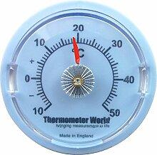 Wand Thermometer 65mm Zifferblatt–Ideal für Raum, Garage, Büro und Schlafzimmer Temperaturüberwachung