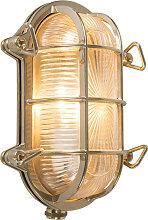 Wand- und Deckenleuchte Nautica 1 oval Gold