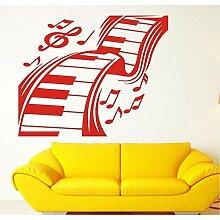 Wand Vinyl Aufkleber Aufkleber Musik Tastatur