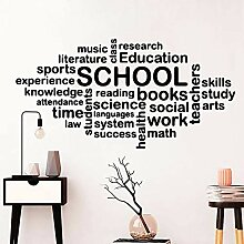 Wand Vinyl Klassenzimmer Schule Aufkleber für