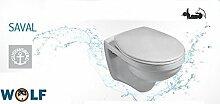 Wand WC Flachspüler Gustavsberg Saval 2.0 weiss