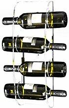 Wand-Weinregal ARNO aus Acryl für 4 Flaschen -