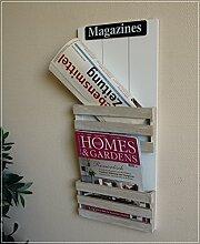 Wand-Zeitschriftenhalter MAGAZINE im Landhaus Stil