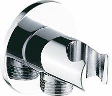 Wandanschlussbogen mit Brausehalter BA003 - rundes