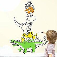 Wandaro W3440 Wandtattoo Dinos zum Ausmalen I pastellblau 44 x 58 cm I Kinderzimmer Malspaß Kinder Jungen Wandsticker Wandaufkleber