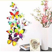 Wandaufkleber 12 stücke 3d butterfly