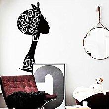 wandaufkleber 3d Dekoration Kunst Afrika Frau Haus