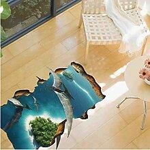 Wandaufkleber 3D Dinosaurier Boden Aufkleber Diy