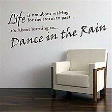 wandaufkleber 3d Tanz im regen design englisch