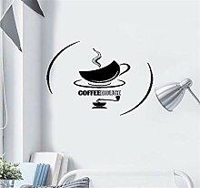 wandaufkleber 3d Tasse Tee Kaffeehaus-heiße