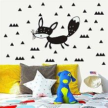 wandaufkleber 3d Wandtattoo Kinderzimmer Fox