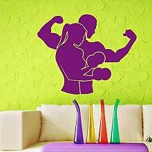 Wandaufkleber 58X72 Cm Fitness Club Aufkleber