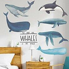 Wandaufkleber Abnehmbare Wandtattoos Whale Marine