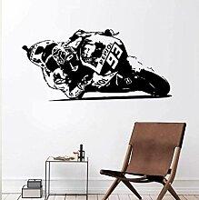Wandaufkleber Abziehbilder 57X84Cm Motorrad