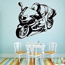 Wandaufkleber Abziehbilder Leichtathletik Motorrad