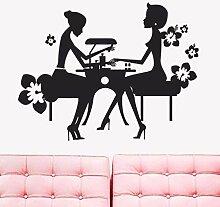 Wandaufkleber Aufkleber Vinyl Beauty Nagel Salon