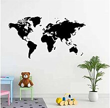 Wandaufkleber Aufkleber Weltkarte Familie
