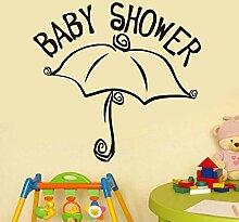 Wandaufkleber Baby Duschschirm Kinder Abnehmbare