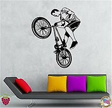 wandaufkleber baum eule Fahrrad-Radfahrer extremer
